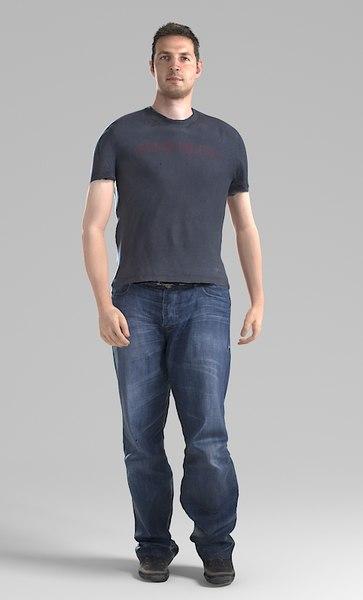 Stefan003 Walk Pre posed 3D Models