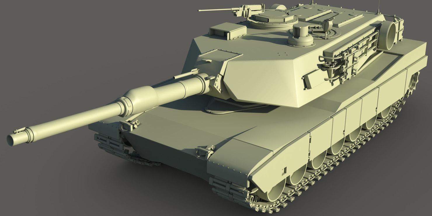 3d obj abrams tank