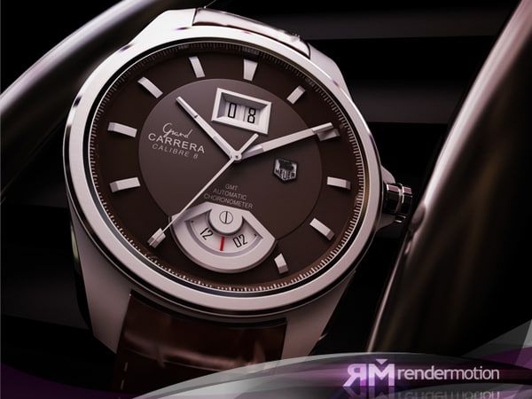 D5_C1_02_Tag Heuer wrist watch 3D Models