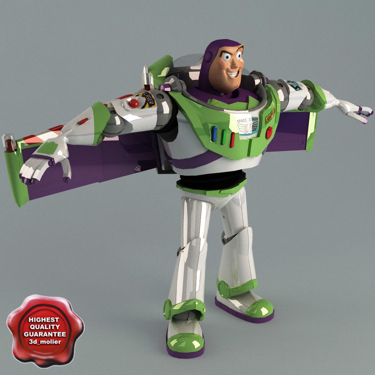 buzz lightyear static 3d model