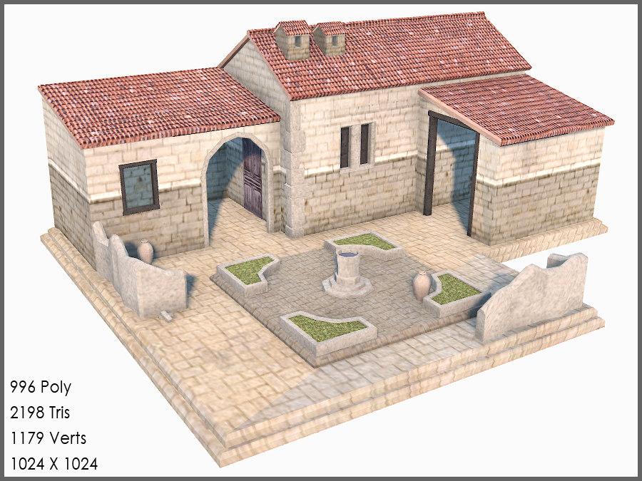Classic Greek Roman House Games 3d Model