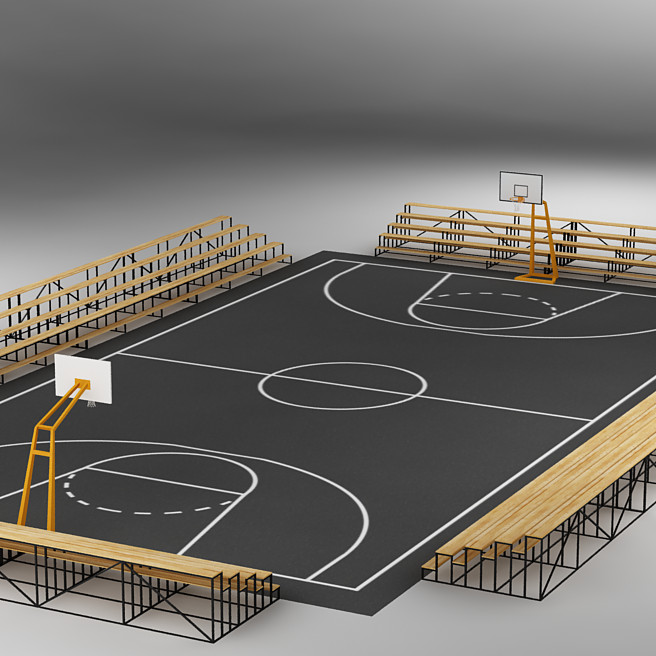 Basketball court 3d images