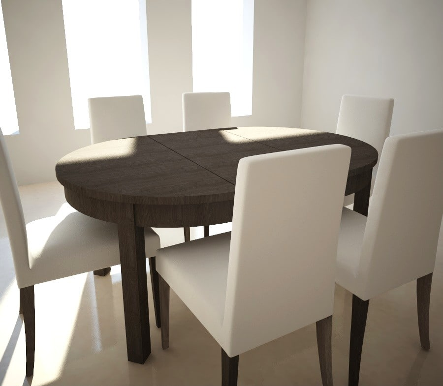 3d extensible table chairs ikea model - Table extensible chaises ...