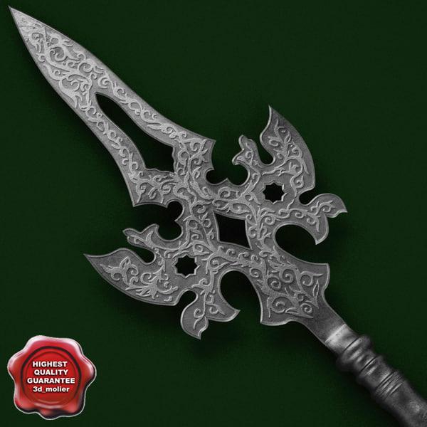 Medieval Spear V3 3D Models