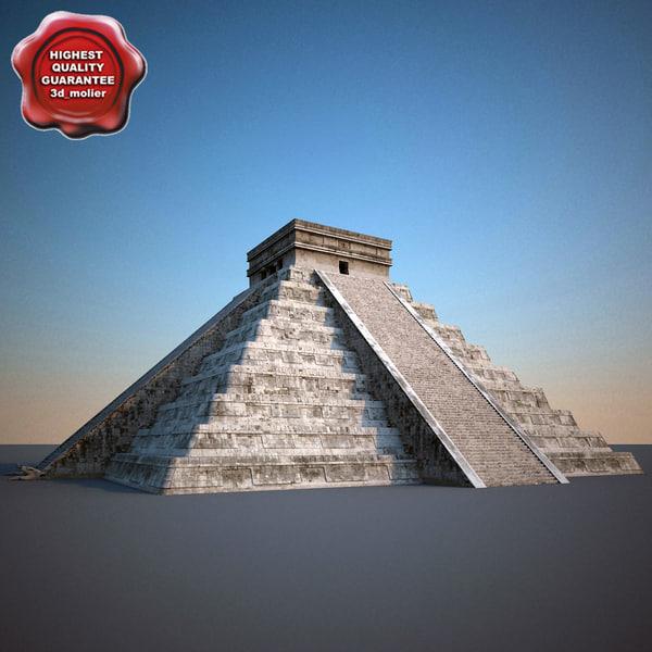 Mayan Pyramid El Castillo 3D Models