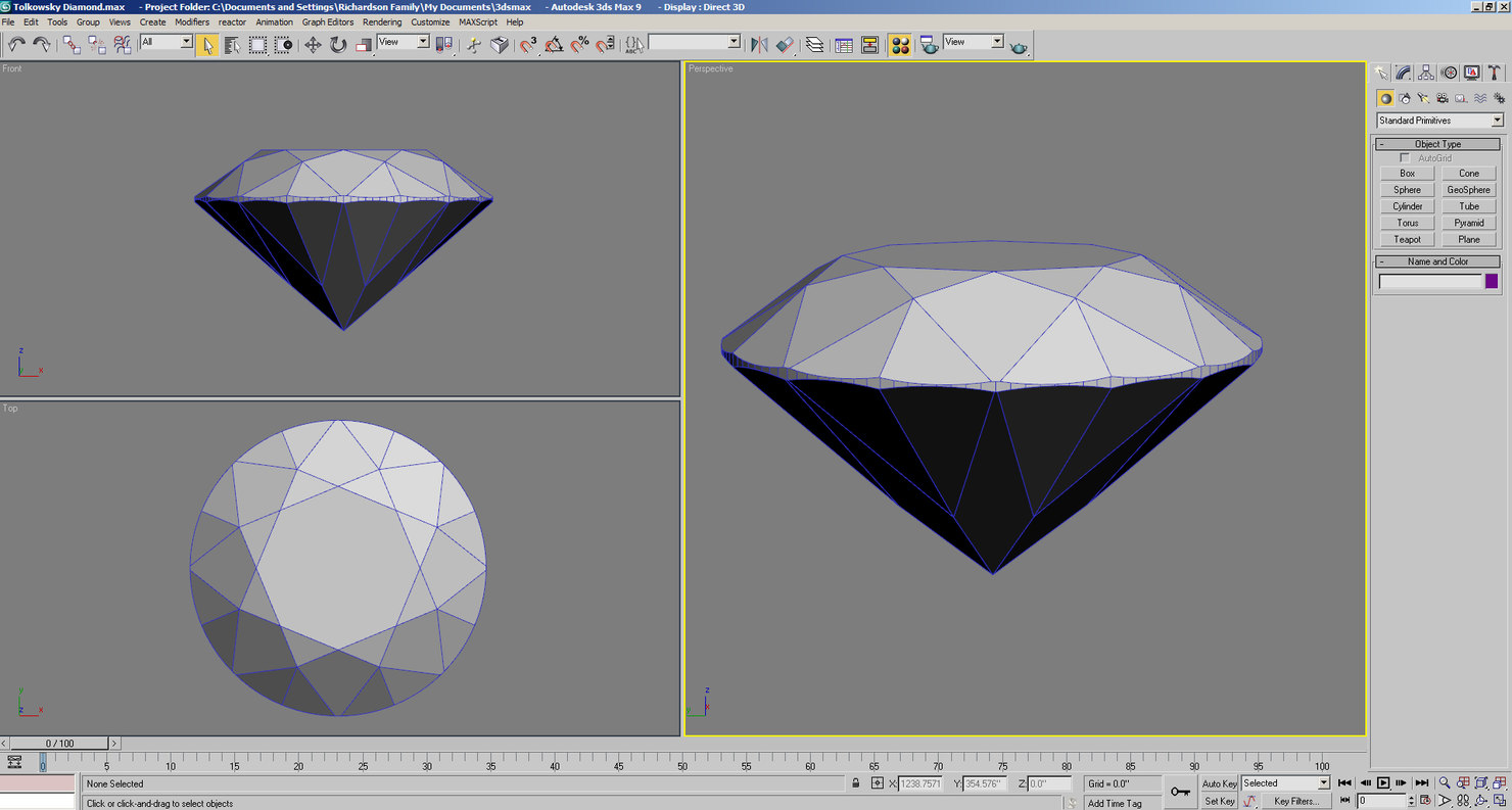 Tolkowski Cut Diamond