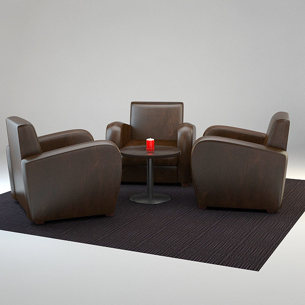 Lounge Seating- V-ray 1.5 Materials 3D Models