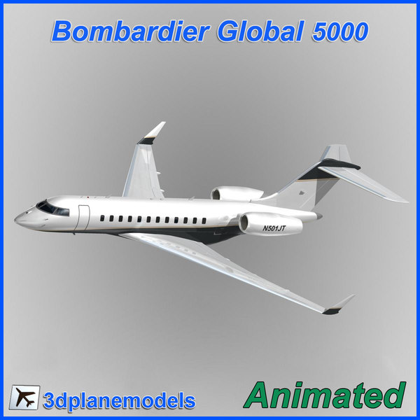 Bombardier Global 5000 Private livery 5 3D Models