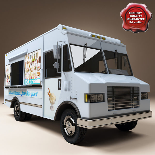 Ice Cream Truck 3D Models