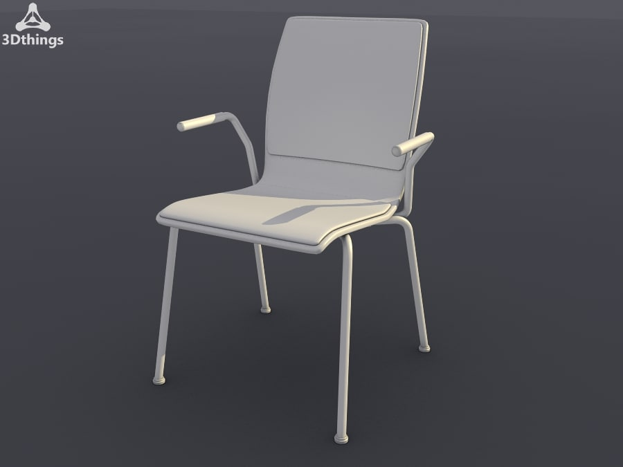 On stage 4-leg model stackable with armrests, seat and backrest cushion