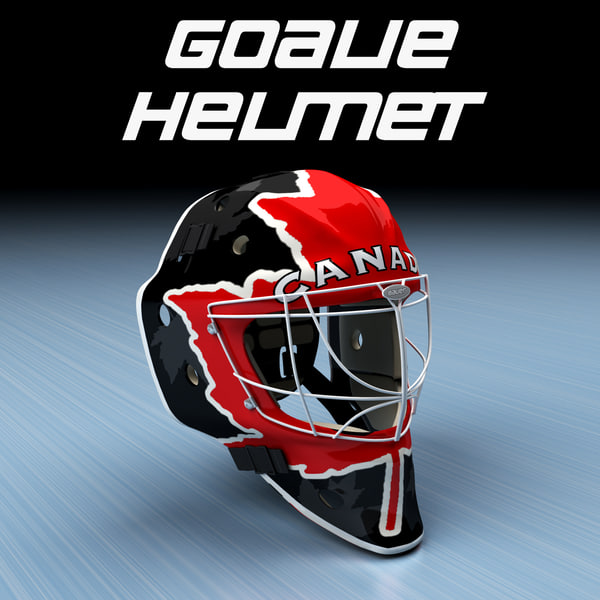 Goalie Ice Hockey Helmet - Canada 3D Models