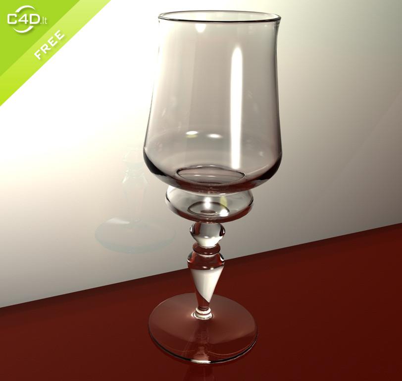 Unique Wine Glass C4d Free