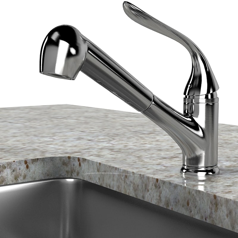Kitchen faucet sink modern contemporary elegant set lavatory.jpg