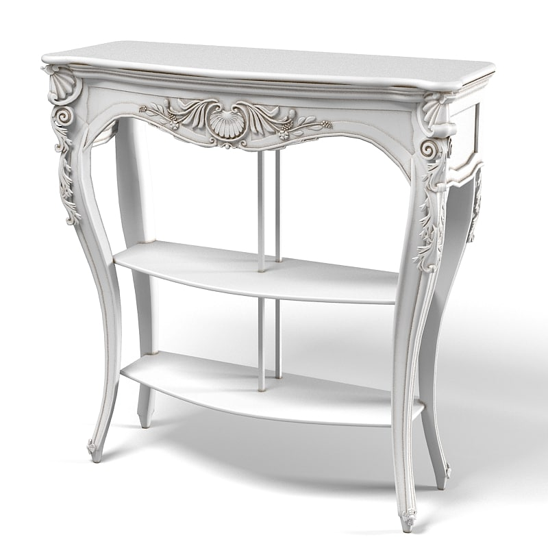 Chelini 2061 Classic Console Table carved Baroque Etagere.jpg