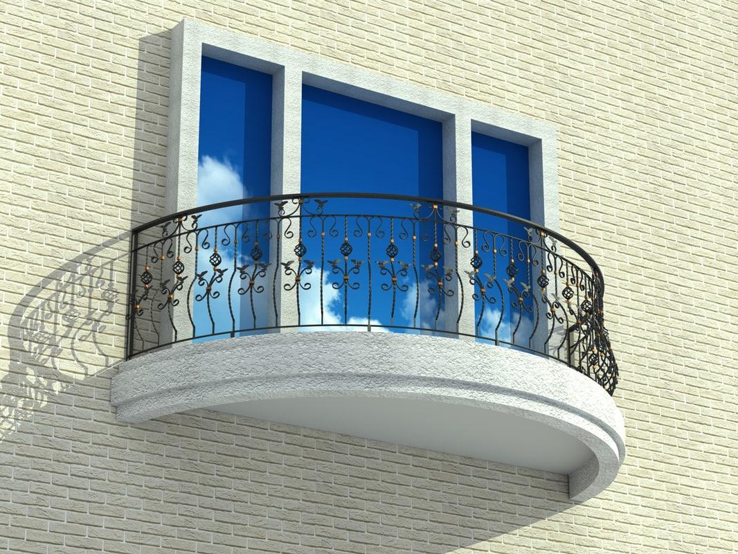 Balcony balcon 3d model for Balcony models