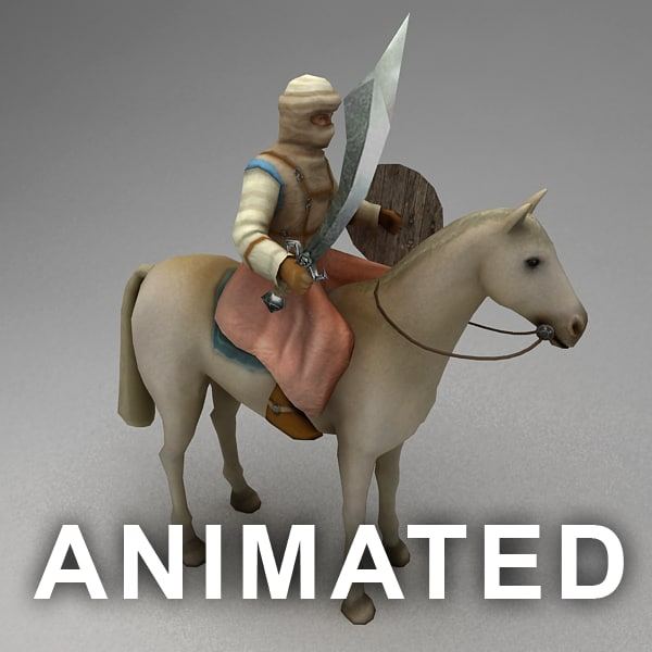 Animated nomad rider 3D Models