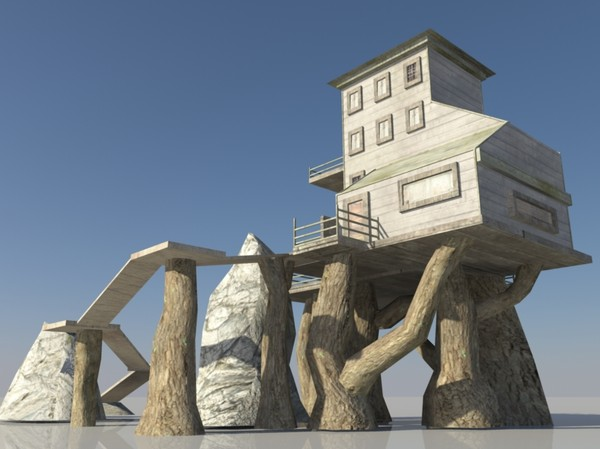 MMO GAME - House 1 3D Models