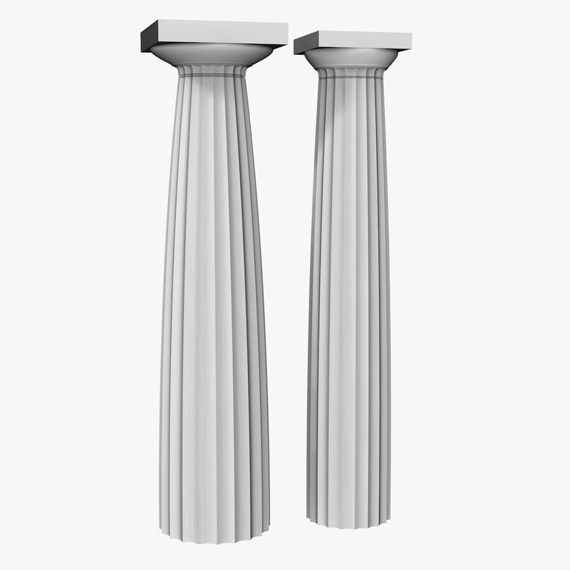 Greek doric column 3d model for Doric columns