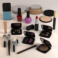 cosmetics set 3D models