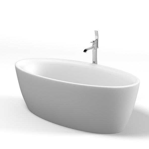 Balteco Senzo Free standing oval bath Modern Contemporary 3D Models