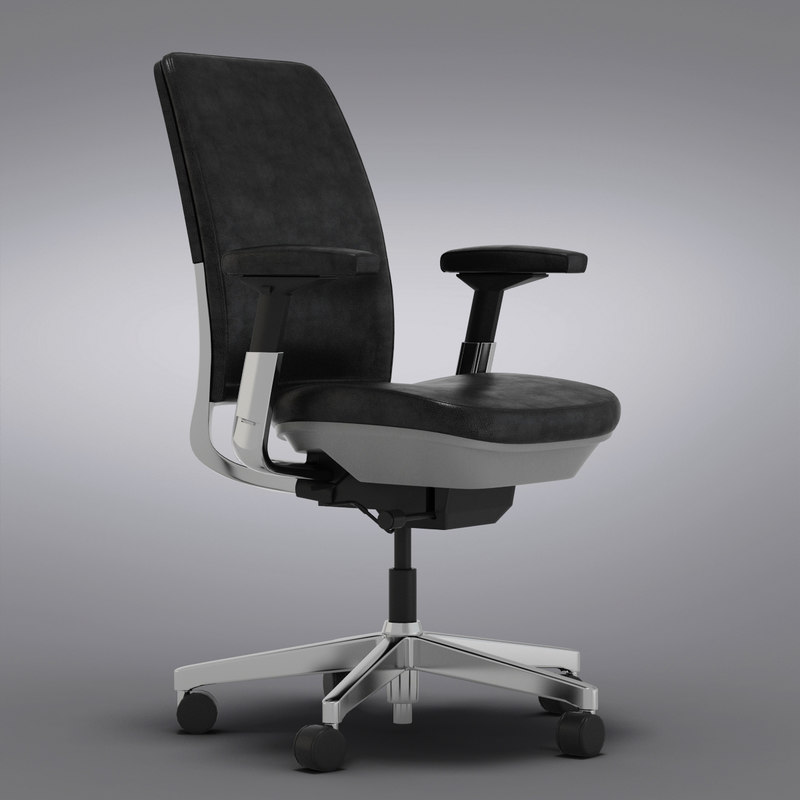 Steelcase Amia in Design Black Leather Office Chair_0003.jpg