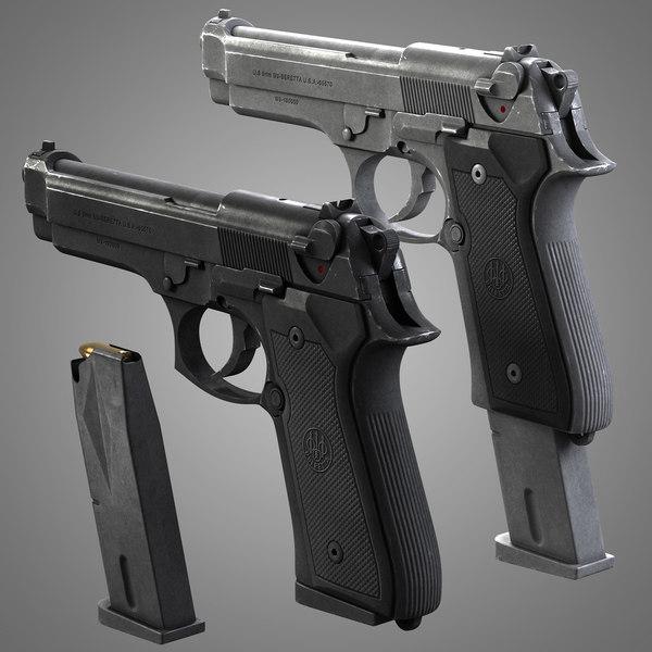 Beretta 92 fs 3D Models