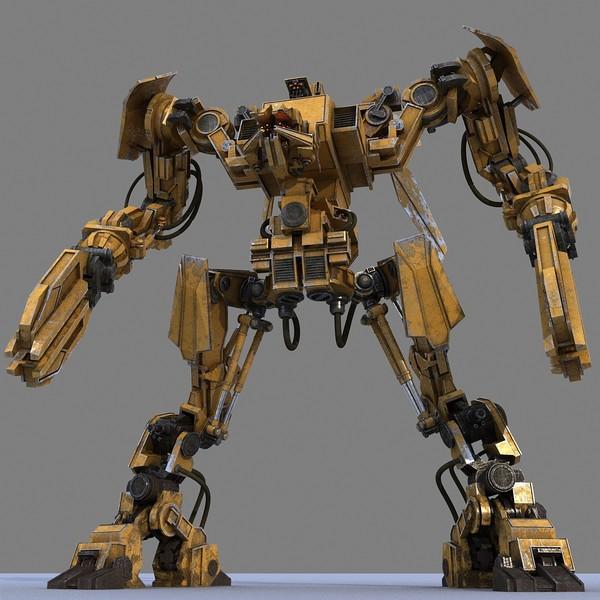 3d max робот модель: