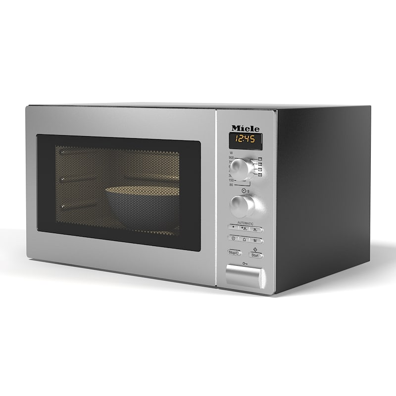 Miele Freestanding Microwave Oven M8201-1 stainless steel clock diplay electonic timer automatic modern contemporary 0001.jpg