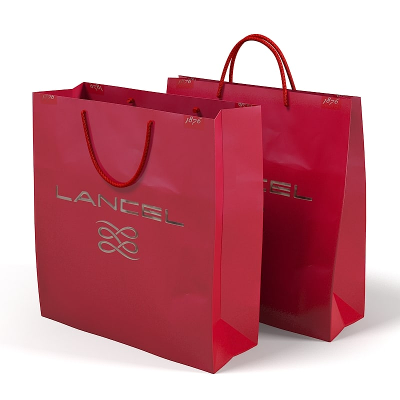 Lancel Paper Carry shopping Retail Gift boutique Bag.jpg