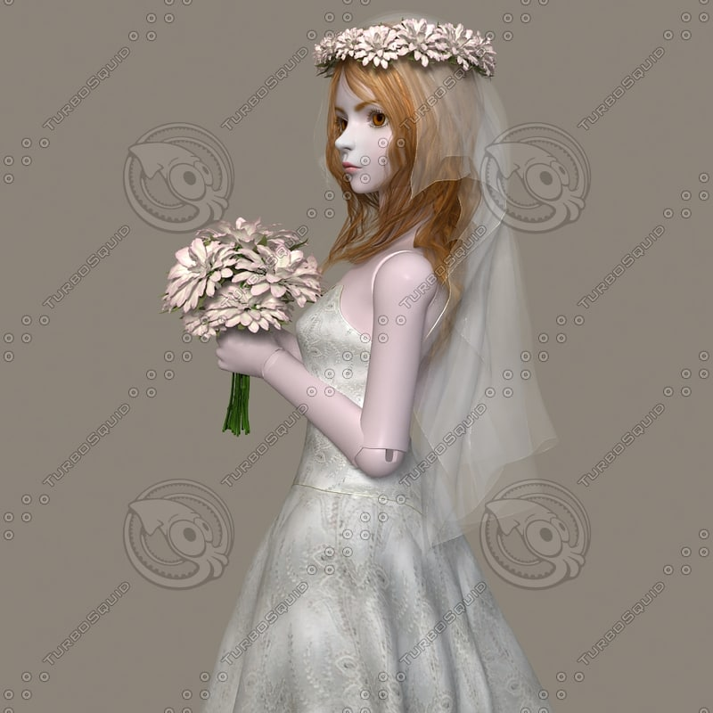 BJD Ball Joint Doll Bride Costume Cloth