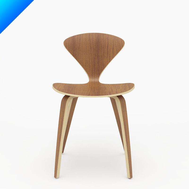 Maya cherner chair norman for Chair 3d model maya