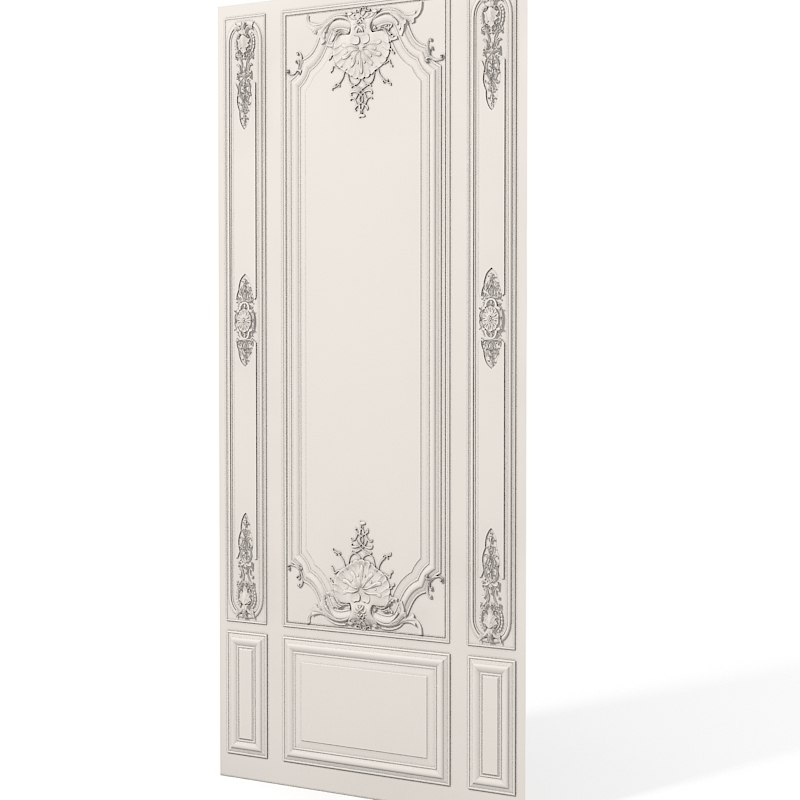 Plaster wall boiserie  panel decor carving baroque rose 0001.jpg