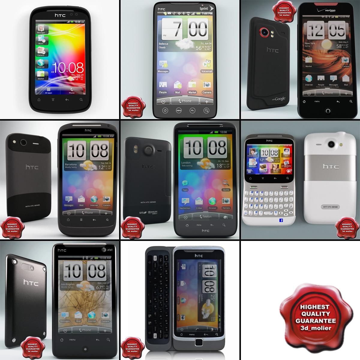 3d model htc phones v1