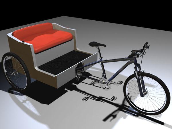 Pedicab 3D Models