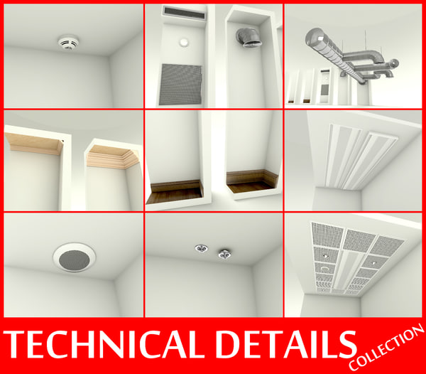 Technical details collection 3D Models
