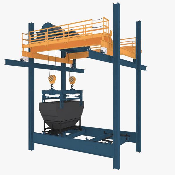 Crane Gantry 3D Models