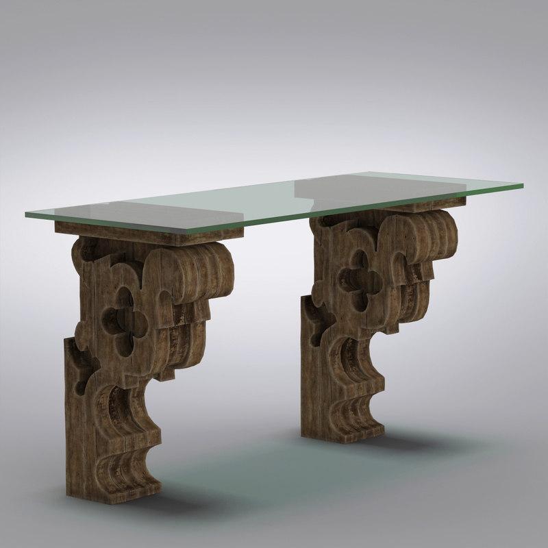 Restoration Hardware Airplane Desk: 3d Model Kids Table