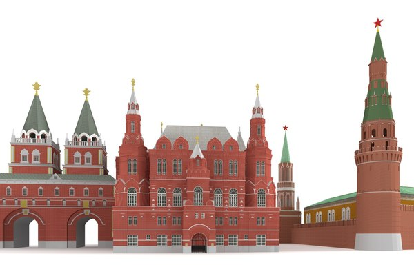 Red Square Moscow Kremlin 3D Models