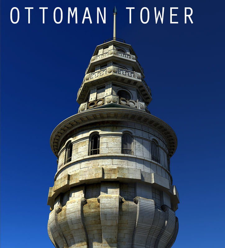 3d ottoman beyazit tower