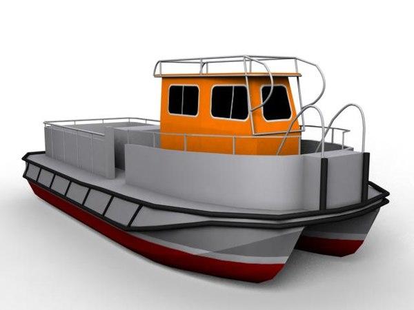 Work Boat 3D Models