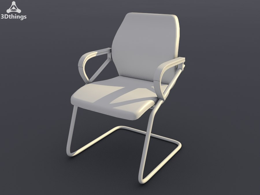 Office seating wien Cantilever chair with armrests