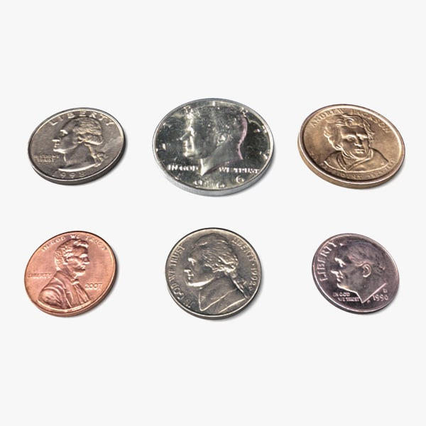 US Coins Set 3D Models