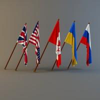 british flag 3D models