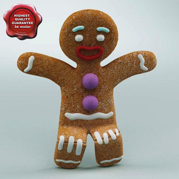 Gingerbread Man Rigged 3D Models