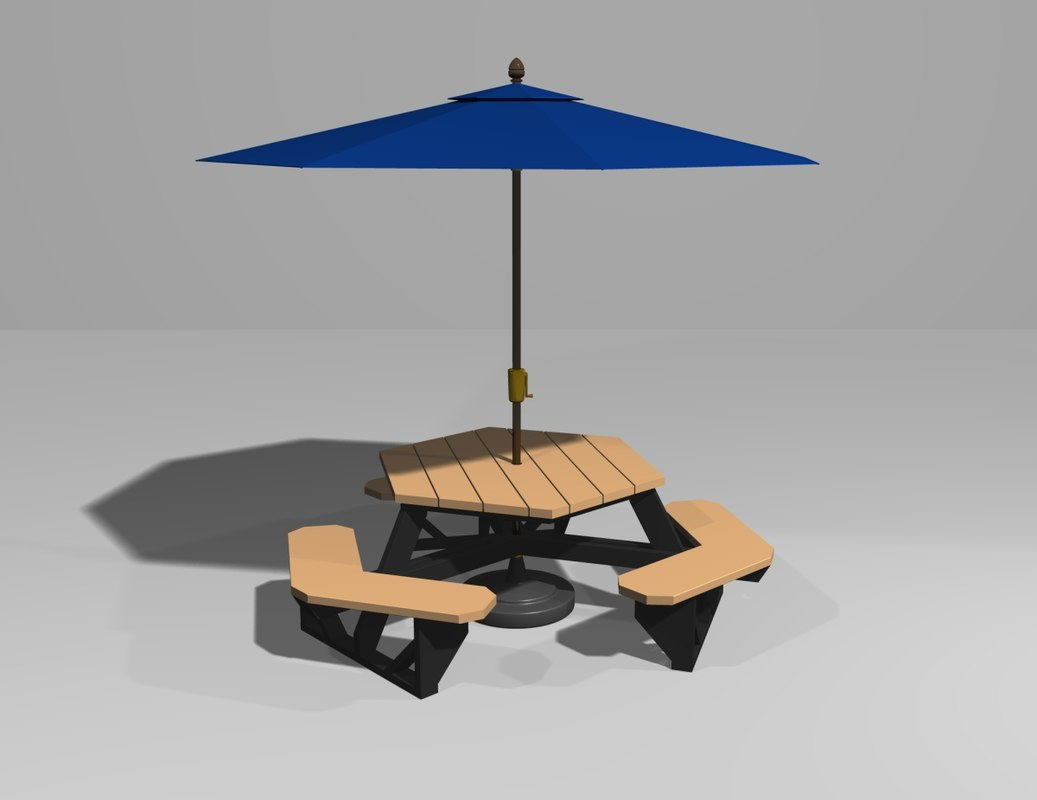 Umbrella For Picnic Table : Picnic Table With Umbrella Patio Furniture  Trend Home Design And ...