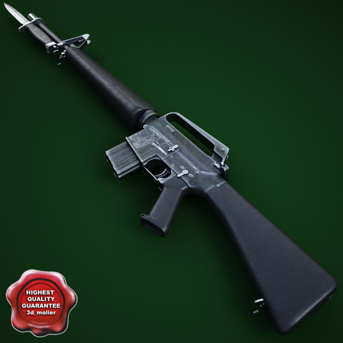 M16A1 Assault Rifle with M7 Bayonet