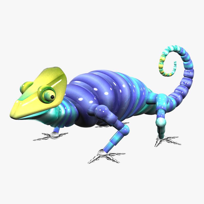 Chameleon Robot: 3d Robotic Chameleon Model