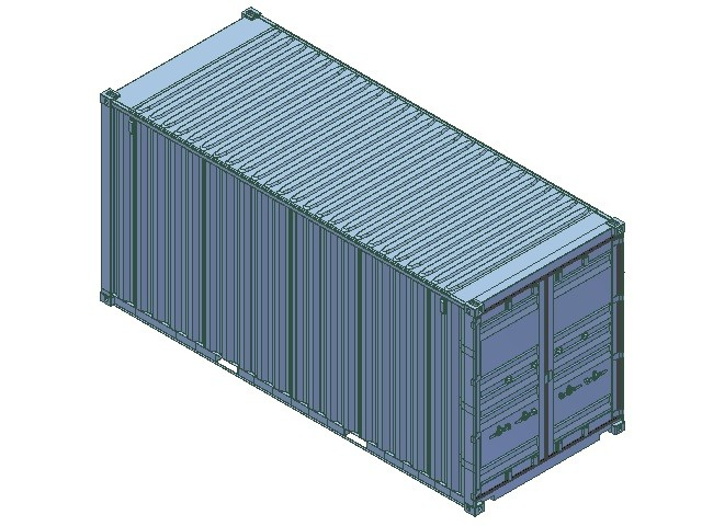 3d model 20ft iso shipping container for Tall shipping container