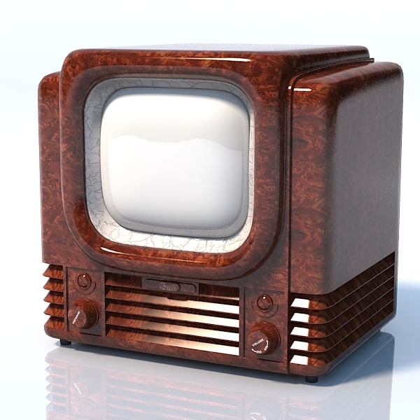 Bush tv22 1950 retro vintage lamp tube tv set television receiver antique 3D Models