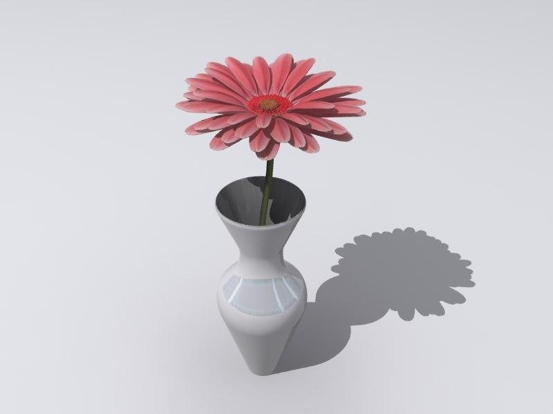 3d flower vase